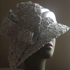 Ms. Divine Asymmetrical Brim & Round Crown Hat